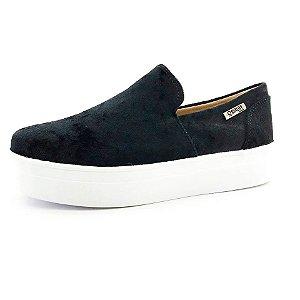 Tênis Flatform Quality Shoes Feminino 004 Veludo Preto