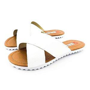 Rasteira Quality Shoes Feminina 008 Verniz Branco