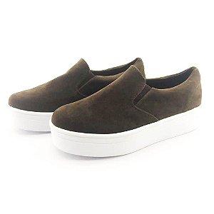 Tênis Flatform Quality Shoes Feminino 009 Camurça Marrom