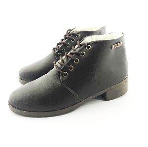 Bota Coturno Forrada em Lã Quality Shoes Feminina Courino Café