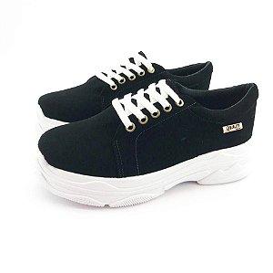 Tênis Chunky Quality Shoes Feminino Nobuck Preto
