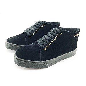 Tênis Quality Shoes 006 Feminino Veludo Preto