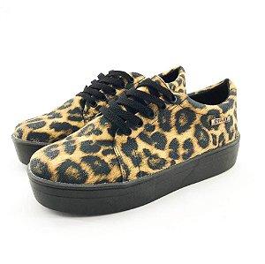 Tênis Flatform Quality Shoes Feminino 007 Animal Print Sola Preta