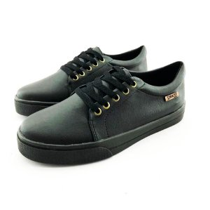 Tênis Quality Shoes Feminino 007 Courino Preto