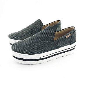 Tênis Quality Shoes Flatform 004 Multicolor Preto Sola Alta com Detalhe