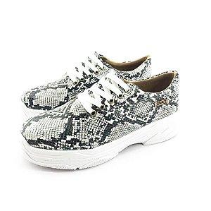 Tênis Chunky Quality Shoes Feminino Phyton Preto e Branco