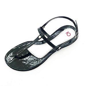 Rasteira Quality Shoes 010 Verniz Preto