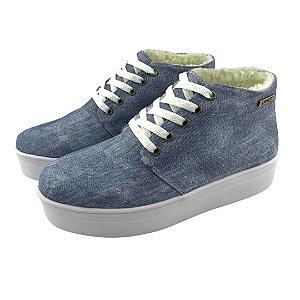Tênis Flatform Quality Shoes Feminino Forrado em Lã Jeans