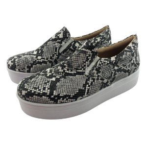 Tênis Flatform Quality Shoes Feminino 009 Phyton Preto e Branco
