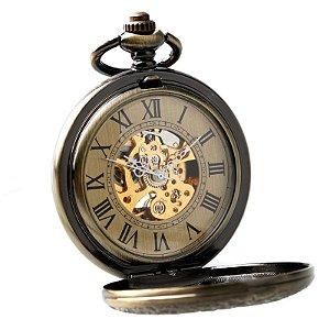 Relógio de Bolso Esqueleto Automático ys-2019