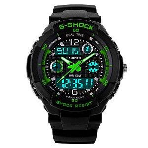 Relógio Skmei S-shock Verde