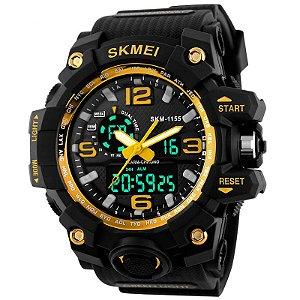 Relógio Skmei 1155 Dual Time Amarelo