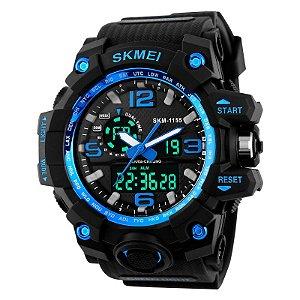 Relógio Skmei 1155 Dual Time Azul