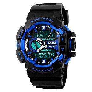 Relógio Skmei 1117 Dual Time Azul