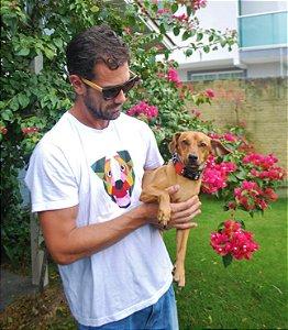 T-shirt Cão Geométrico