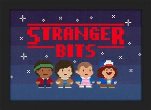 Quadro A4 Stranger Things Bits