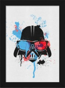 Quadro A4 Geek Side - Splash Vader