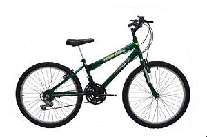 Bicicleta infantil masculina aro 24 new bike - 18 marchas