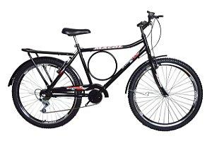 Bicicleta aro 26 Barra Forte - New Bike 6 marchas