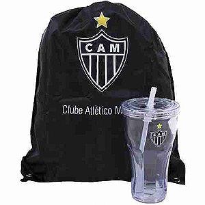 Copo Com Canudo 550ml E Mochila Tipo Saco - Atlético Mineiro