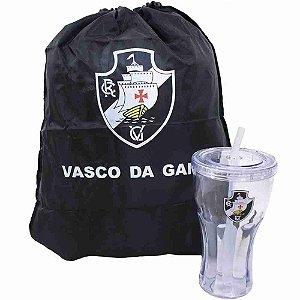 Copo Com Canudo 550ml E Mochila Tipo Saco - Vasco da Gama