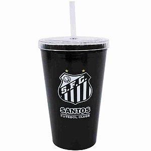 Copo Plástico Canudo 500ml - Santos