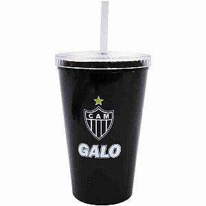 Copo Plástico Canudo 500ml - Atlético Mineiro