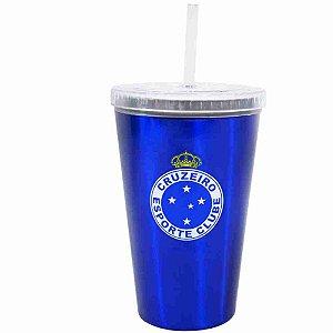 Copo Plástico Canudo 500ml - Cruzeiro