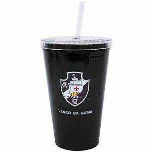 Copo Plástico Canudo 500ml - Vasco