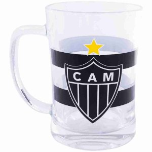 Caneca De Vidro 660ml - Atlético Mineiro