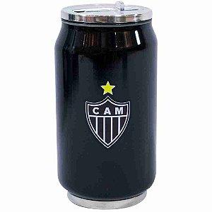 Copo De Inox Com Canudo 300ml - Atlético Mineiro