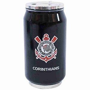 Copo De Inox Com Canudo 300ml - Corinthians