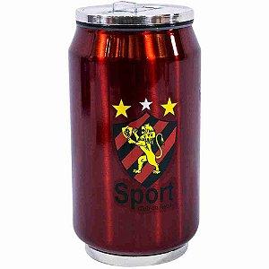 Copo De Inox Com Canudo 300ml - Sport Club