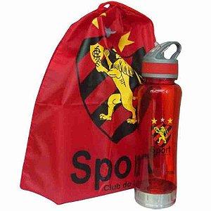 Garrafa 600ml Mochila Tipo Saco - Sport Club