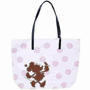 Bolsa Branca Detalhes Rosa Minnie - Disney