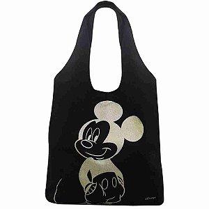 Bolsa Preta Estampa Mickey 60X34X38cm - Disney