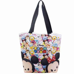 Bolsa Com Zíper Mickey & Minnie Tsum Tsum 40X28X38 - Disney