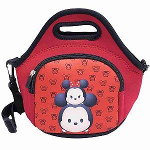 Bolsa Térmica Vermelha Mickey Minnie Tsum tsum 25X28cm - Disney