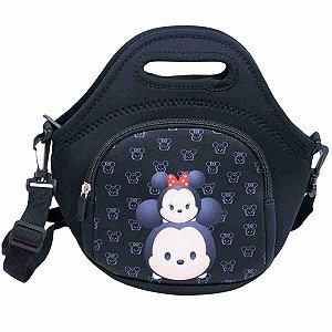 Bolsa Térmica Preta Mickey Minnie Tsum tsum 25X28cm - Disney