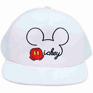 Boné Branco Mickey Aba Reta - Disney