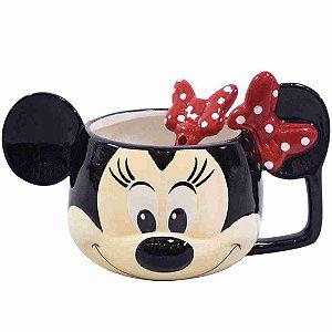 Caneca De Porcelana Rosto Minnie 280ml - Disney