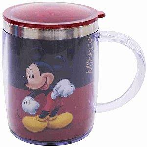 Caneca Térmica Preta E Vermelha Mickey 450ml - Disney
