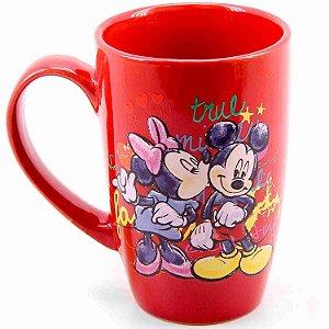 Caneca Porcelana Vermelha Mickey & Minnie 400ml - Disney