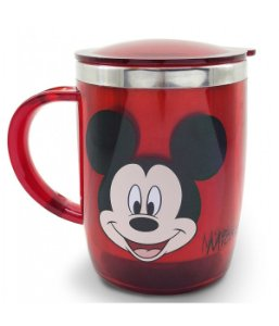 Caneca Térmica Vermelha Mickey 450ml - Disney
