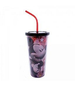 Copo Com Cubos De Gelo Mickey Sombra 600ml - Disney