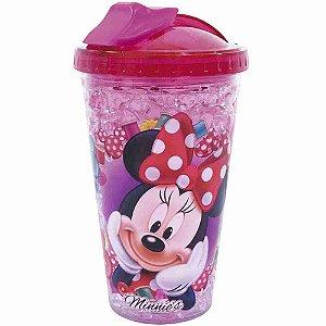 Copo Com Tampa E Canudo Minnie Com Gel Congelante 450ml - Disney