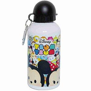 Garrafa Branca De Alumínio Mickey & Minnie Tsum Tsum 500ml - Disney