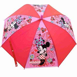 Guarda Chuva Vermelha Minnie - Disney