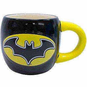 Caneca Porcelana Grande Batman 600ml - Liga Da Justiça