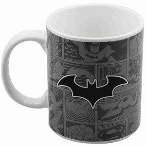 Caneca Porcelana Batman 300ml - Liga Da Justiça